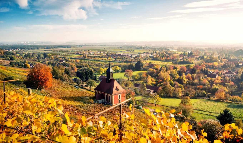 germanii, oir, природа, осень, город, панорама, landscape