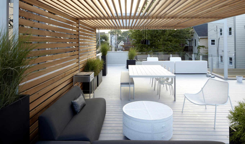 белая, патио, дворик, bucktown, three, architects, dwell, studio, мебель, chicago, июня, dekor,