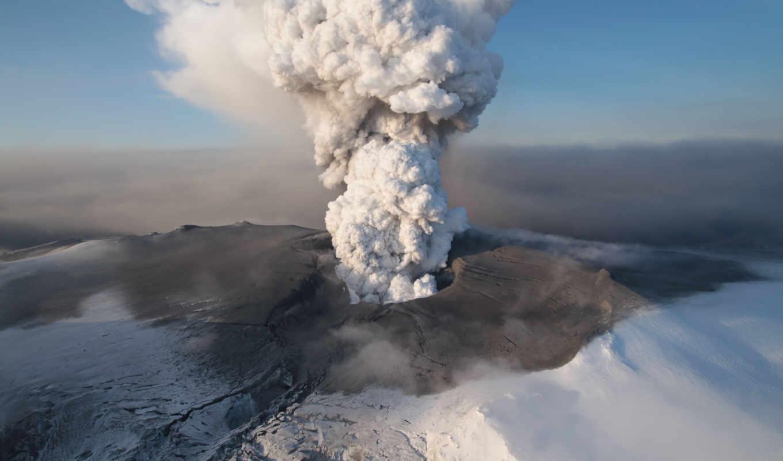 islandia, volcán, erupción, una, del, más, ха, аль,