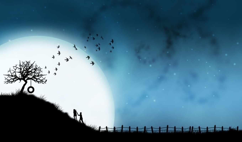 love, луна, youth, вместе,
