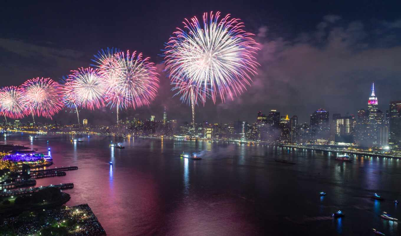 firework, город, фото, вектор, new, royalty, ди, york, tema, панорамный