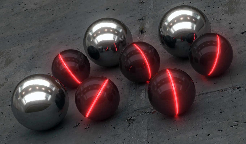 шары, industrial, glow, никель, блеск, картинка, смотрите,