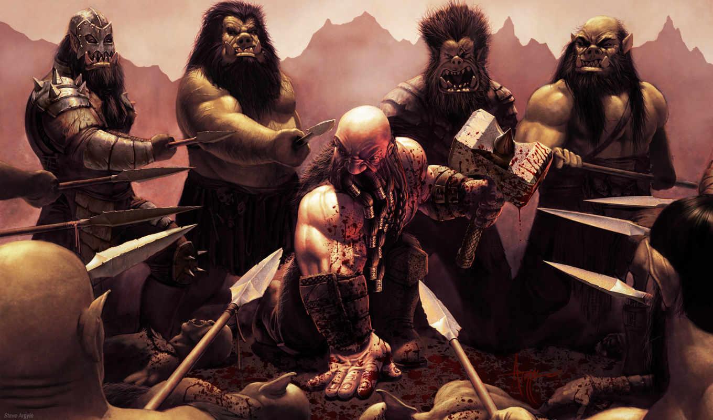 dwarf, barbarian, дварф, молот, argyle, steve, окружение, кровь, битва, fantasy, фантастика, коллекция,