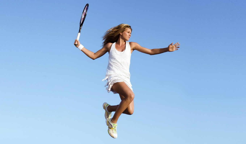 теннис, мария, кириленко, прыжок, спорт,