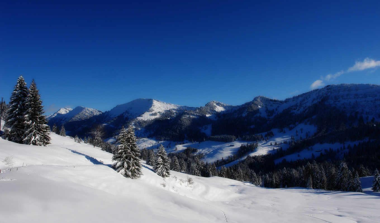 небо, планшетный, mobile, mac, winter, ноутбук, телефон, mountains,