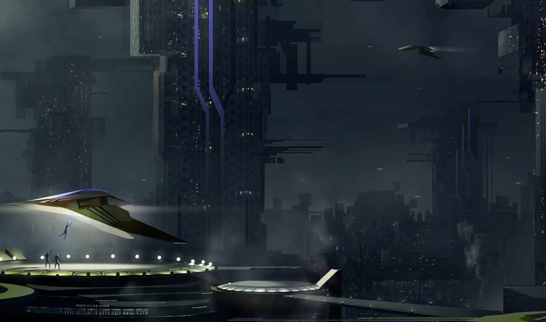 обои, арт, корабли, город, люди, похищение, обоев,