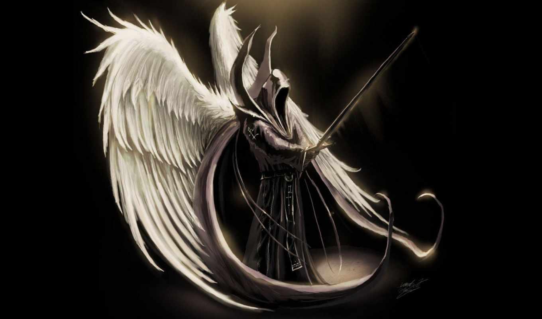 fantasy, angel, art, крылья, fallen, меч, оружие, wings, angels, крылатый, users,