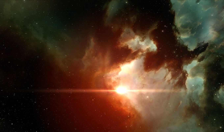 туманности, свет, звезды, пространство, картинка,
