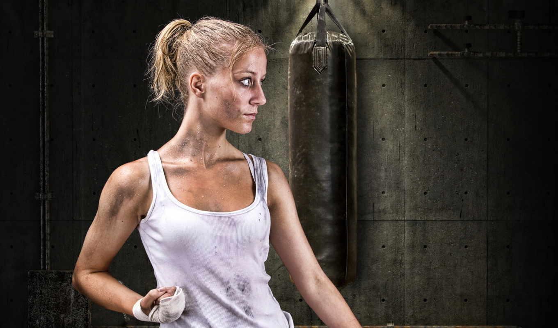 тренировка, девушка, спорт, качестве, фотоарт, часть, free, под,
