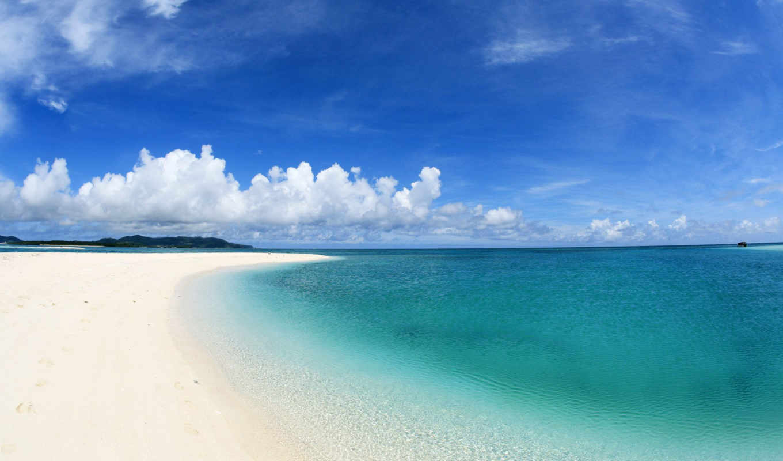 море, summer, небо, пляж,