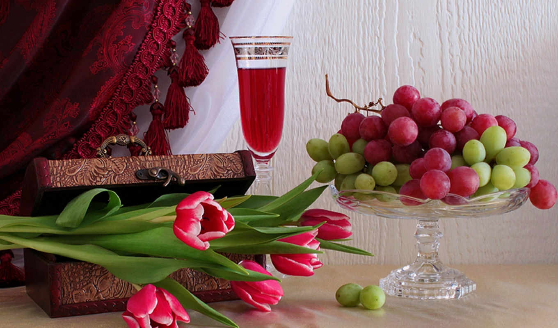 eда, бокал, тюльпаны, плейкаста, вина, когда, автор,