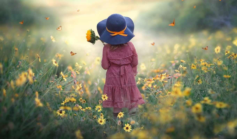 drossin, цветы, джессика, yellow, поле, digital, девушка, шляпа, подсолнух