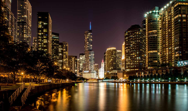 chicago, miasto, станы, иллинойс, zjednoczone, willis, башня