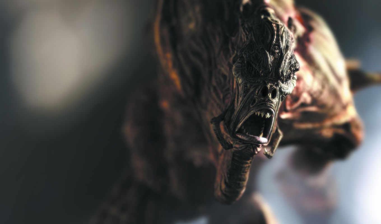 крик, монстр, зубы, kaena, alien, игры, sculpture, fantastika, jak, film, chuzhoi, games,