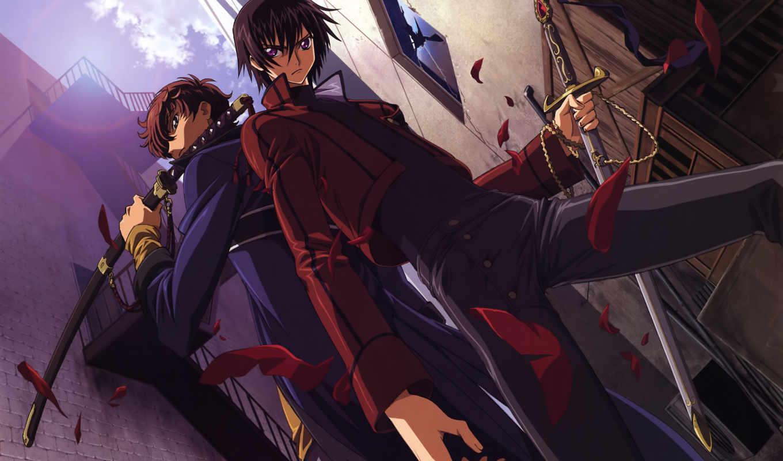 картинка, аниме, geass, code, эпизод, девушка, сюжет, рисунок, lelouch, kururugi, dizisi, televizyon, suzaku,