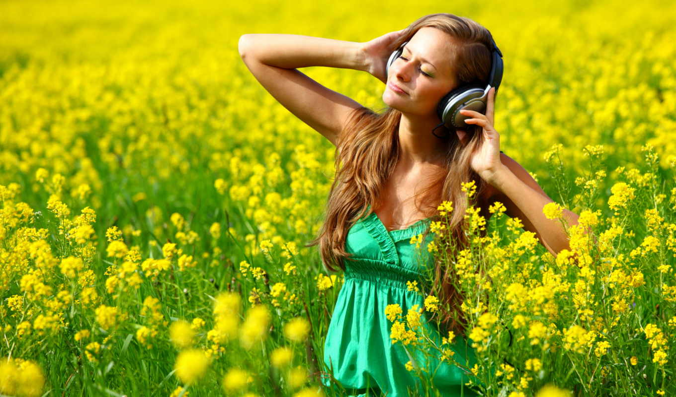 music, headphones, girls, relax, listening, download, you, oboi, место, wearing, wonderful, архива, mix, количество,