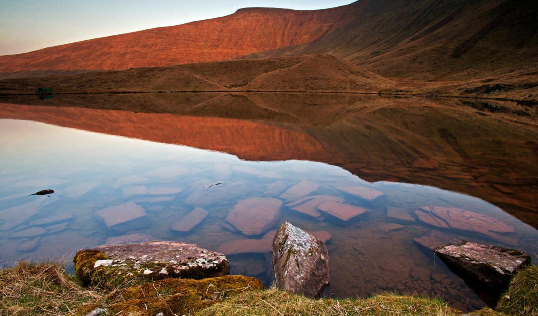 природа, water, камни, art, отражение, озеро, красивые, прозрачность,