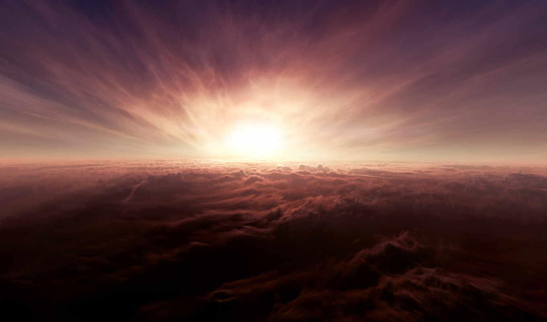 clouds, облако, вид,закат