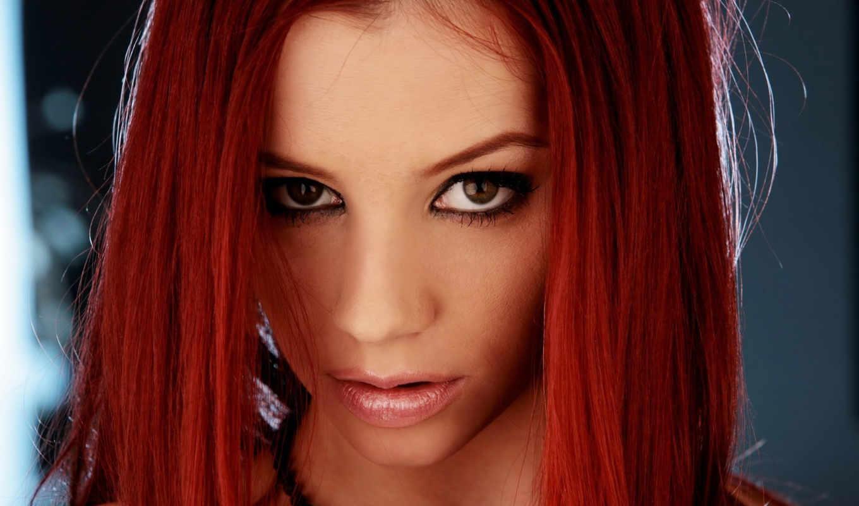 макияж, глазами, глаз, рыжих, свет, девушек, карими, волосы, карие, волосами, devushki,