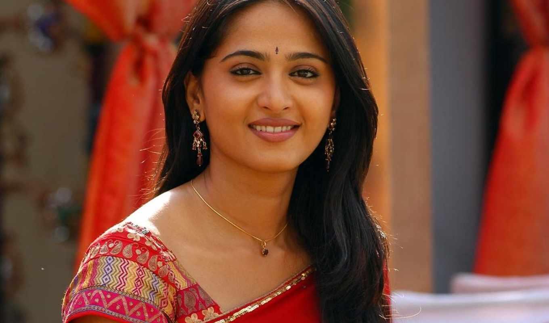anushka, shetty, saree, актриса,