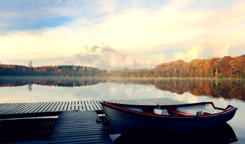 лодка, scenery, parked, free, landscape, desktop,