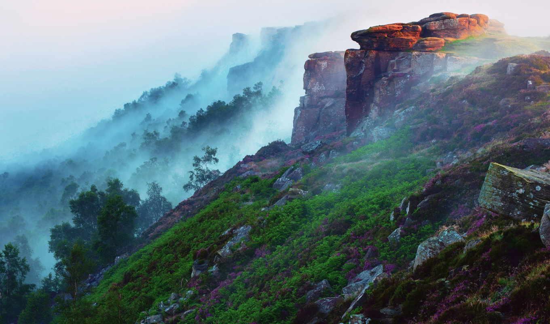 красивые, места, горы, самые, утро, мира, туман, свет, цветы, лес, заставки,