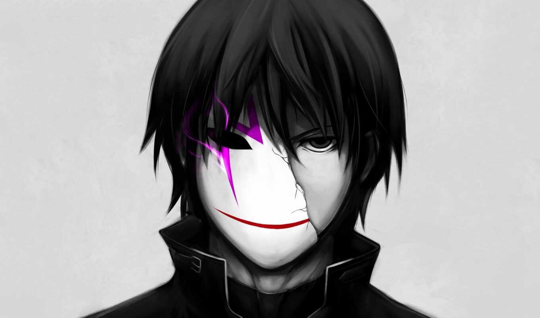 anim, темный, чёрный, маска, создать, арта, black, dark, amino