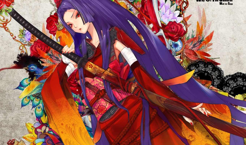 anime, girl, samurai, hentai, images, gallery, амая, tags, added, ponjeadas, арт, colorful, sage, snyp, photo, similar,