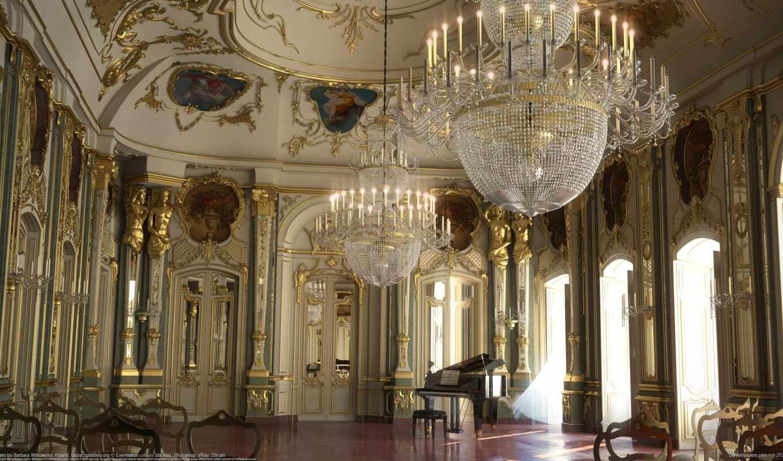 дворец, интерьер, версаль, франция,