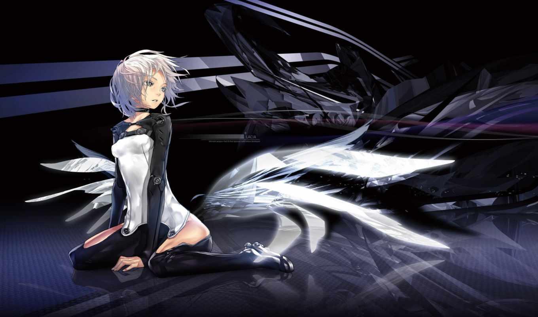 robot, девушка, anime, gaingauge, fs, deviantart, город, предновогодний,