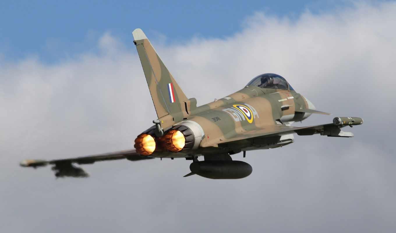 eurofighter, typhoon, полет, истребитель, fighting, falcon, многоцелевой,