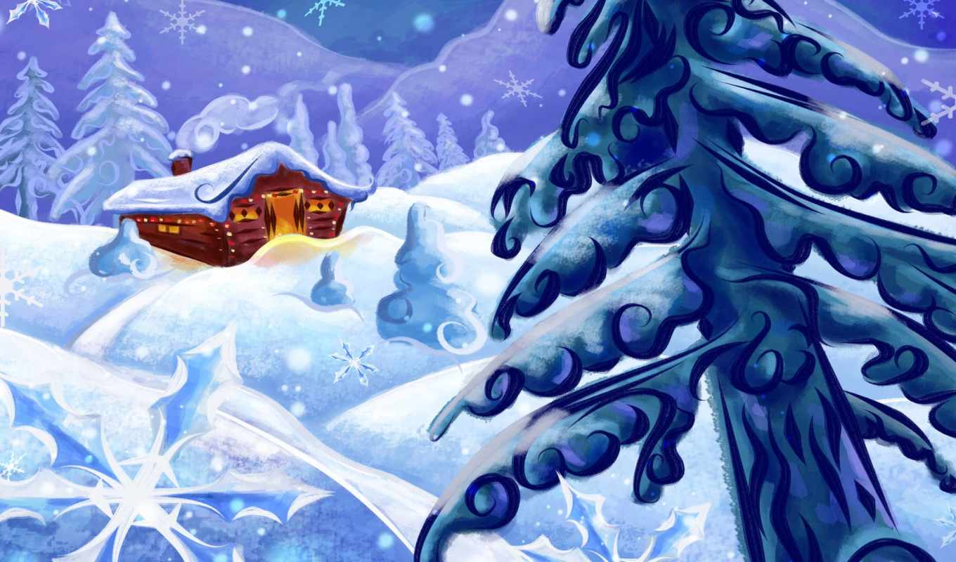 snow, cottage, abstract, pictures, nature, download, related, free,