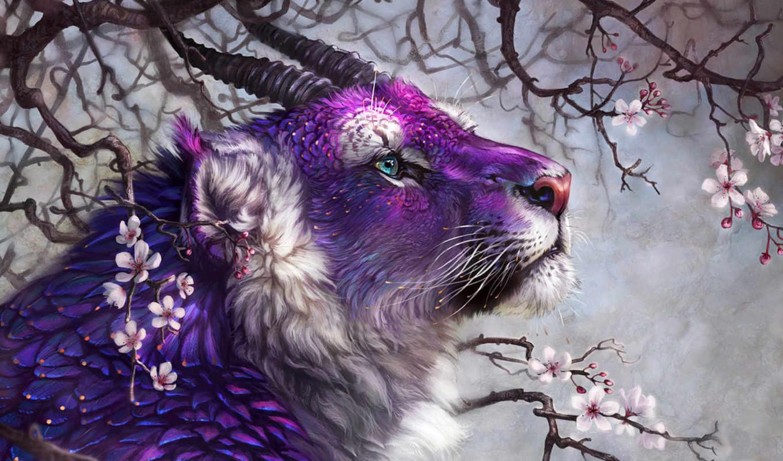 fantasy, тигры, коллекция, широкоформатные, эротические,