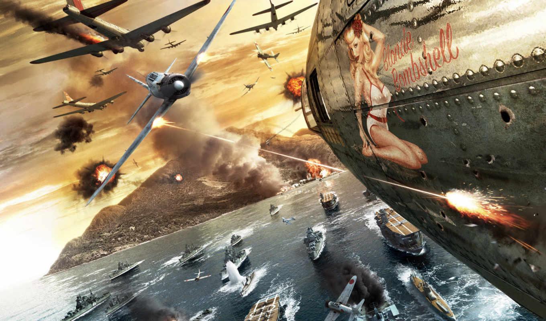 девушка, самолёт, war, бой, картинка,