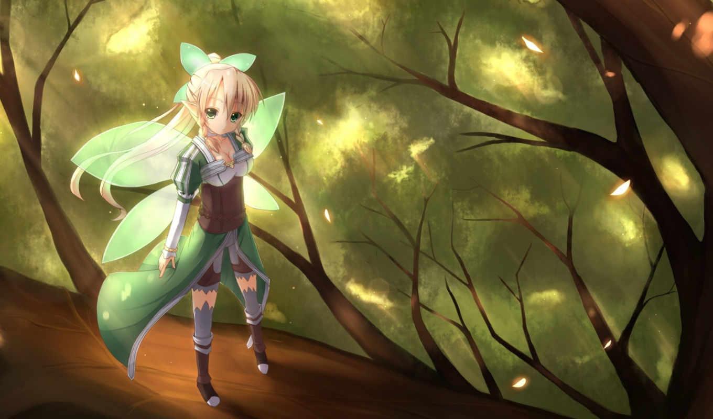 art, меч, online, suguha, anime,