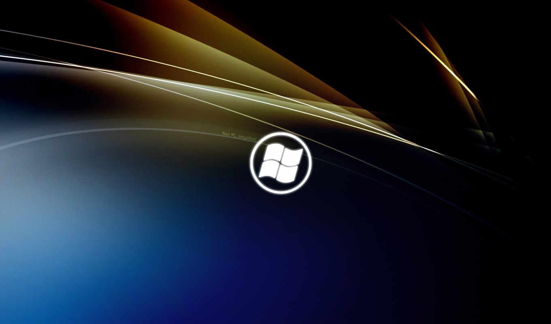 windows, eight, лого, тёмный, синий, коричневый
