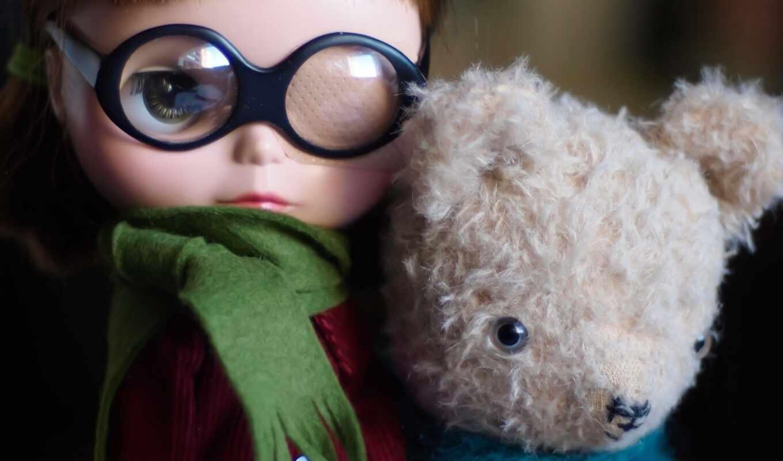 медведь, doll, глаза, teddy, ребенок, glass