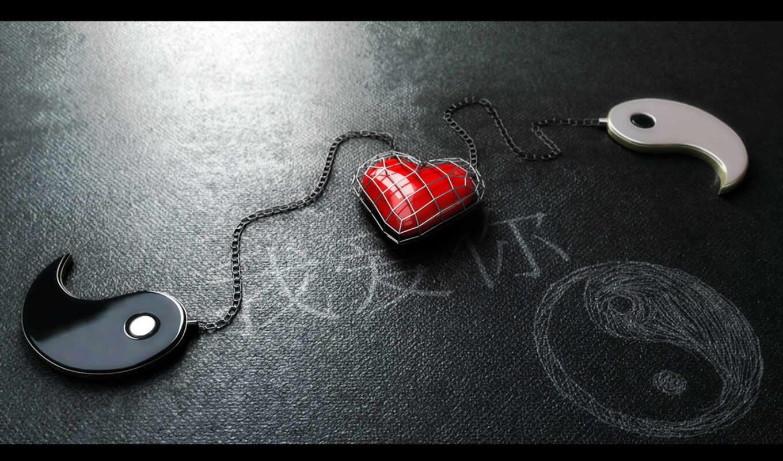 yang, yin, heart, with, red, ipad, love, янь, google, chained,