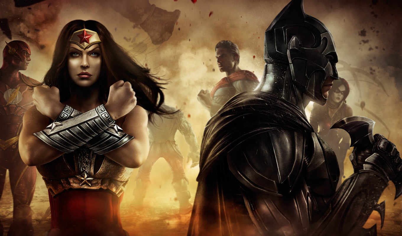 injustice, gods, among, woman, batman, wonder, pellentesque, игры,