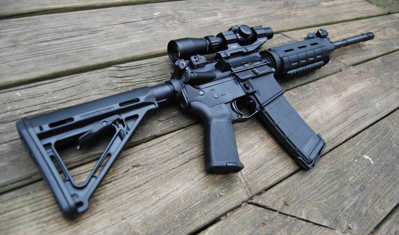 assault, rifle, wood,