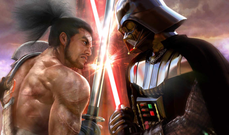 войны, звездные, darth, vader, самурай,
