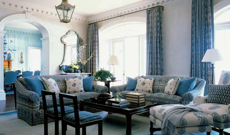 blue, интерьере, интерьера, color, алупка, гостиной, но, ремонт, февр,