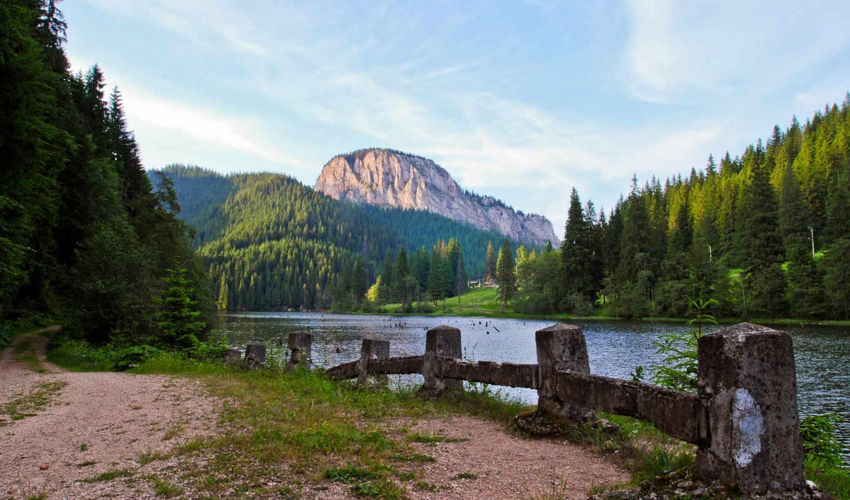 гора, озеро, лес, mobile, trail, телефон, планшетный, mac, июня,