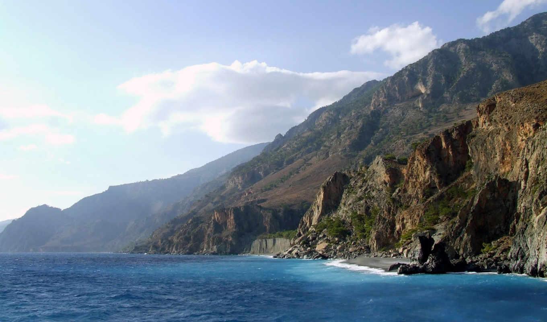 море, горы, природа,