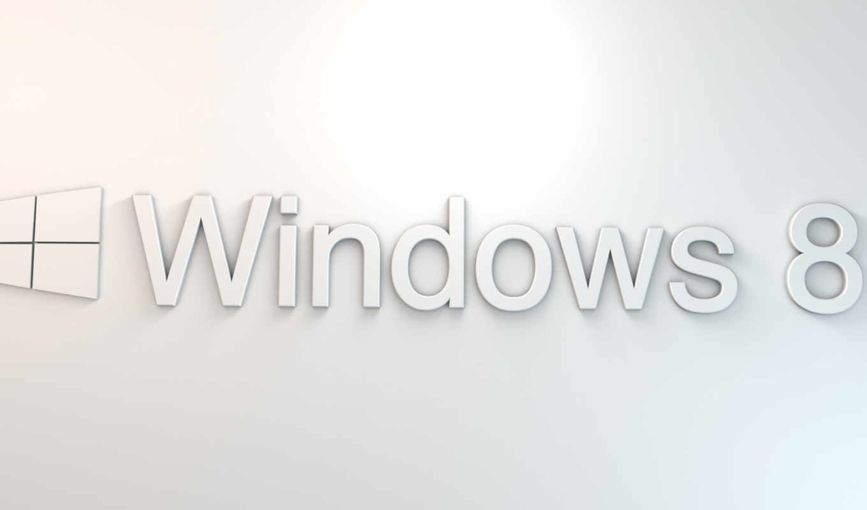 windows, eight, лого, белый