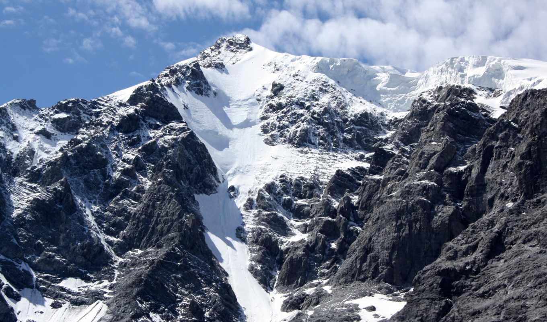 ,гора,снег,склон,скалы,