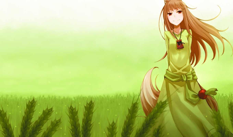 anime, волк, spice, волчица, пряности,