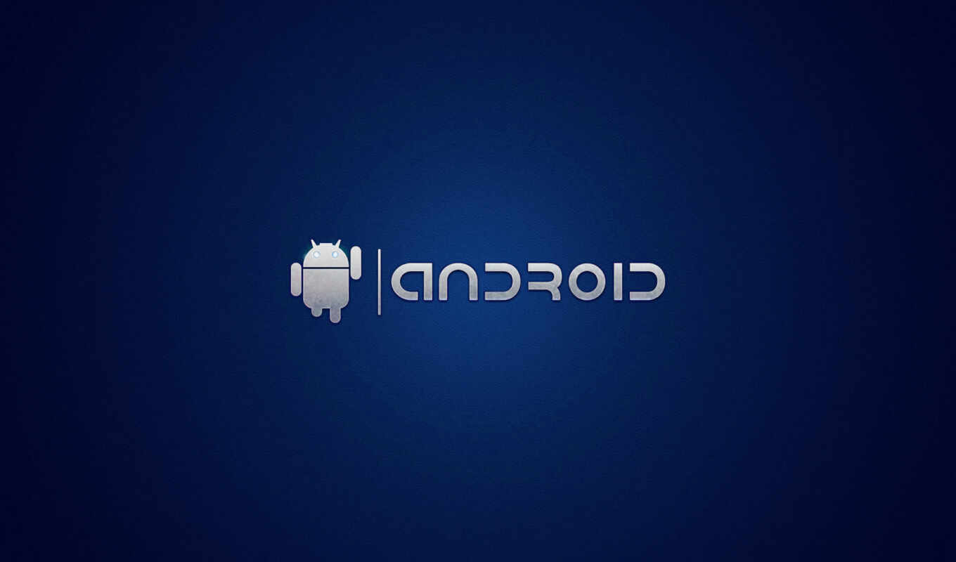 android, dark, blue, logo