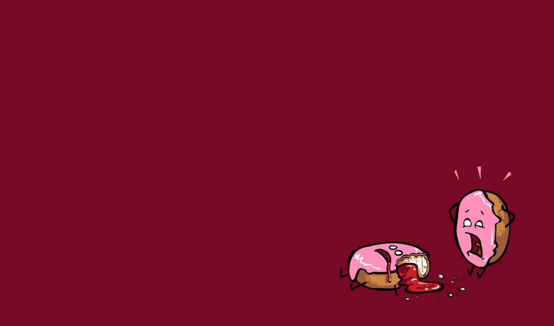 art, пончик, minimalizm, лев, чтобы, так, смешной, пончики,