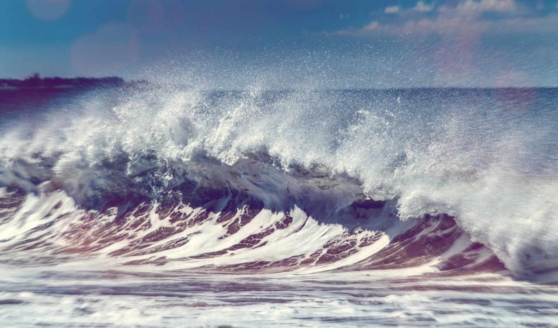волна, морская, большая, разных, разрешениях, море, красивая, берег,